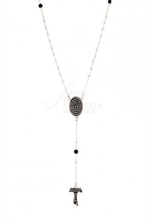 Collana Rosario Donna Argento 925 Silver Tau Collection 8T21CFM