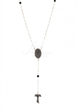 Collana Rosario Tau San Francesco Argento 925 Tau Collection 8T21CFM
