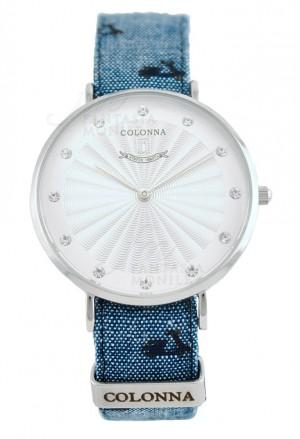 Orologio Colonna Donna Polsino Sartoriale Jeans Vespa Piaggio Cristalli Acciaio 3E05IFM