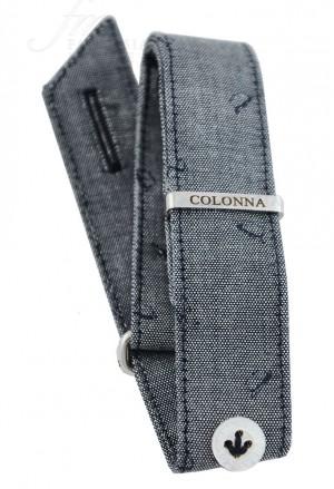 Ricambio Polsino Sartoriale Uomo Colonna Tessuto Jeans Gray Trama Cappello Larghezza 18mm OG2ZZFM