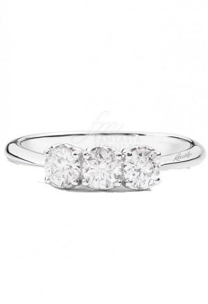Anello Recarlo Trilogy 3 Pietre Modello Anniversary Diamanti Naturali Oro 18kt Donna R01TY733/045-15