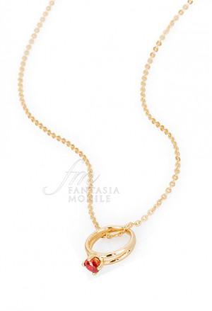 Collana Donna Promise Charm Anello Solitario Love Argento Brosway PR02