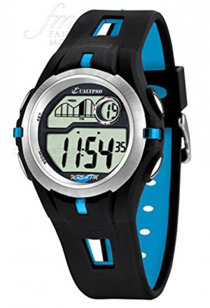 Orologio Calypso Bambino Kids Digitale Cronografo Allarme Nero Black Blu Gomma K5511/2