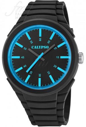 Orologio Calypso Uomo Solo Tempo Nero Azzurro Gomma K5725/3