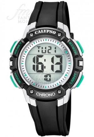 Orologio Calypso Bambino Kids Cronografo Digitale Nero Grigio Acciaio Gomma K5739/3