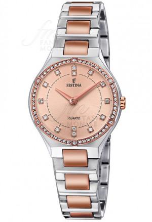 Orologio Festina Donna Acciaio Cristalli Rose F20226/4