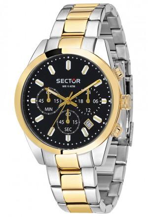 Orologio Sector Uomo Cronografo Chrono Acciaio Bicolore Laminato Gold R3273786001
