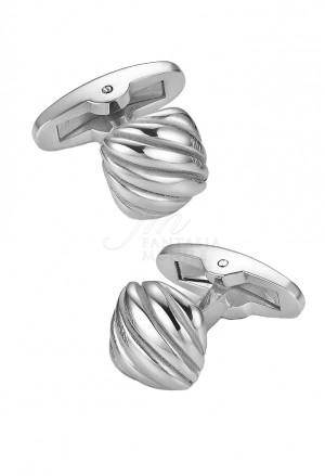 Gemelli Luca Barra Uomo Collezione Sailor Acciaio Silver Forma Quadrata GE120