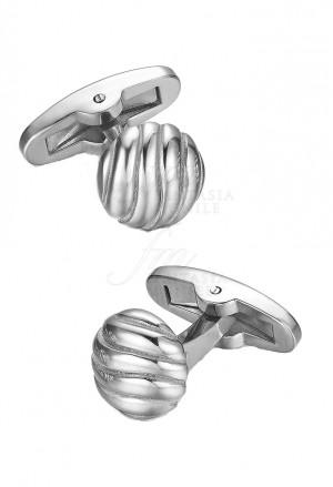 Gemelli Luca Barra Uomo Collezione Sailor Acciaio Silver Forma Rotonda GE122