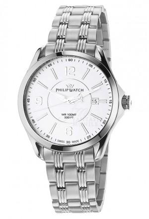 Orologio Philip Watch Uomo Blaze Solo Tempo Colore Silver Datario Acciaio R8253165002