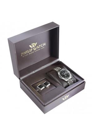 Orologio Philip Watch Caribe Kit Regalo Uomo Orologio E Gemelli R8253597040